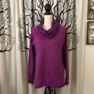 Athleta Space Dye Tranquility Cowl Neck Sweatshirt